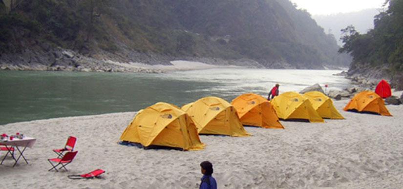 Tented camp beech