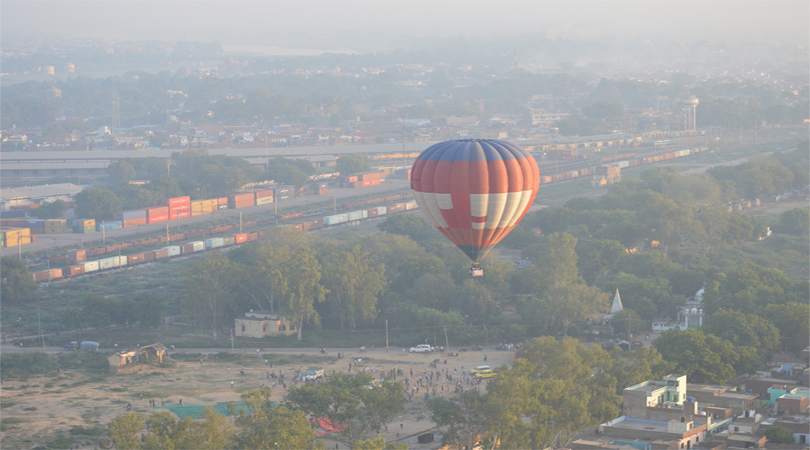 hot air balloon agra