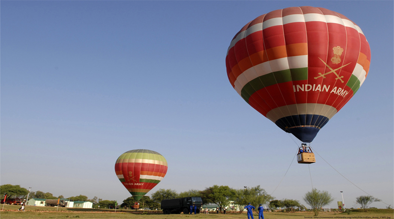 hot air balloon in delhi