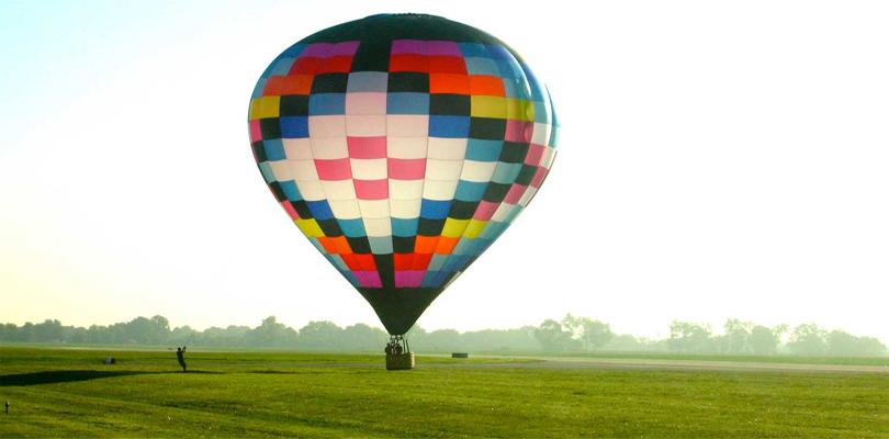 hot air balloons in hampi