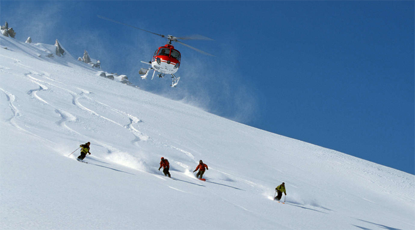 Heli Skiing in Auli