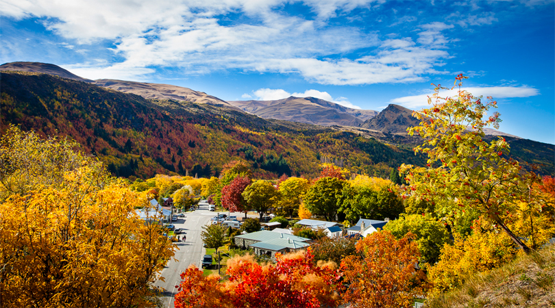 Autumn landscapes in New Zealand