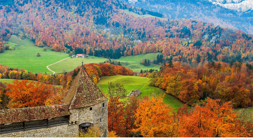 Gruyere Switzerland autumn